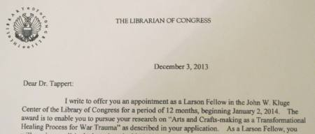 Tara Leigh Tappert Awarded Library of Congress Larson Fellowship